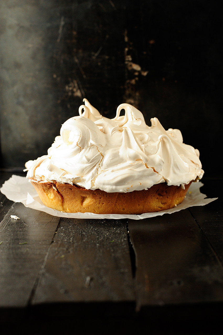 serving dumplings | Lemon almond meringue tart
