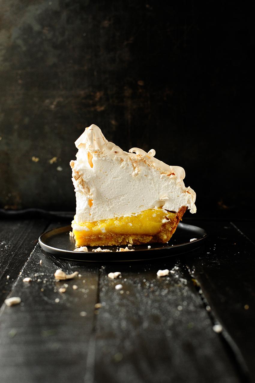 serving dumplings | Lemon almond meringue tart