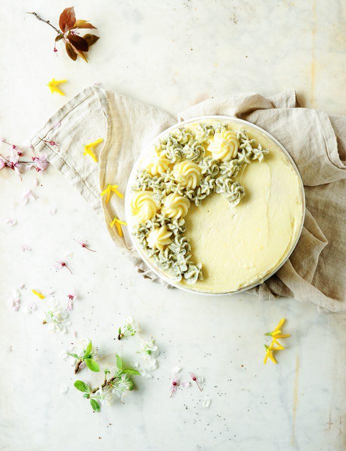 Spring lemon poppy seed cake