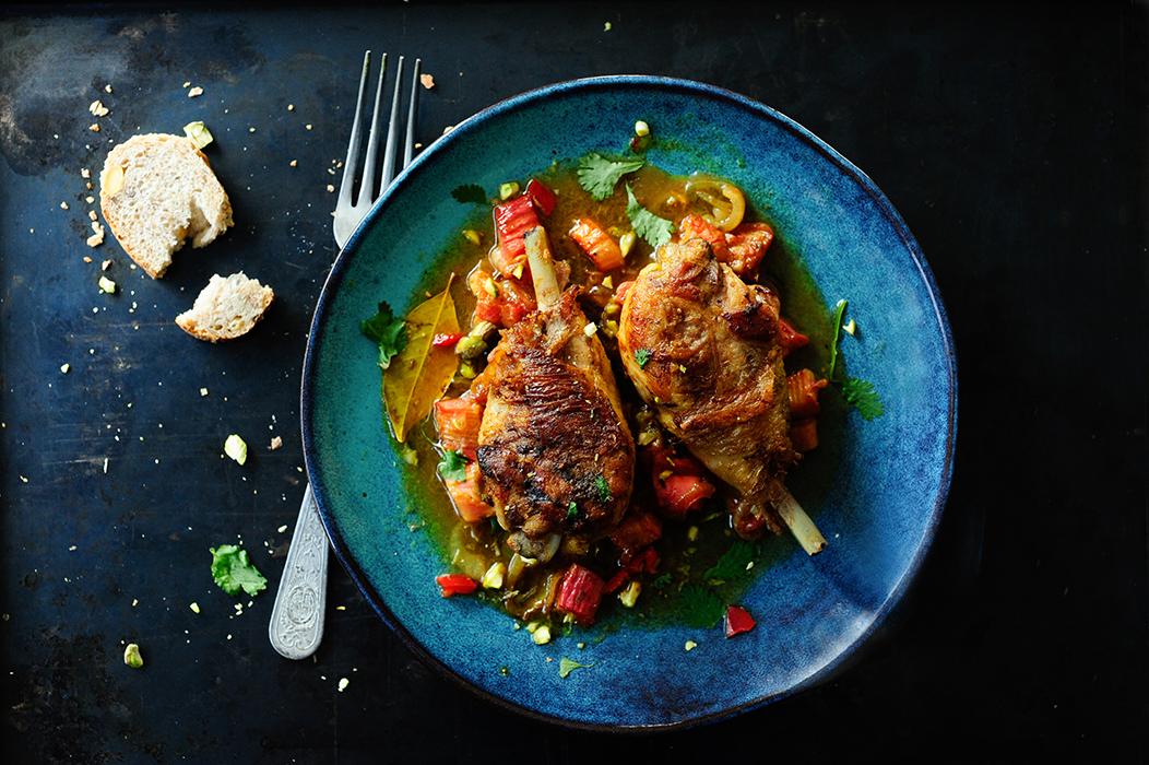 Geroosterde kip met rabarber1