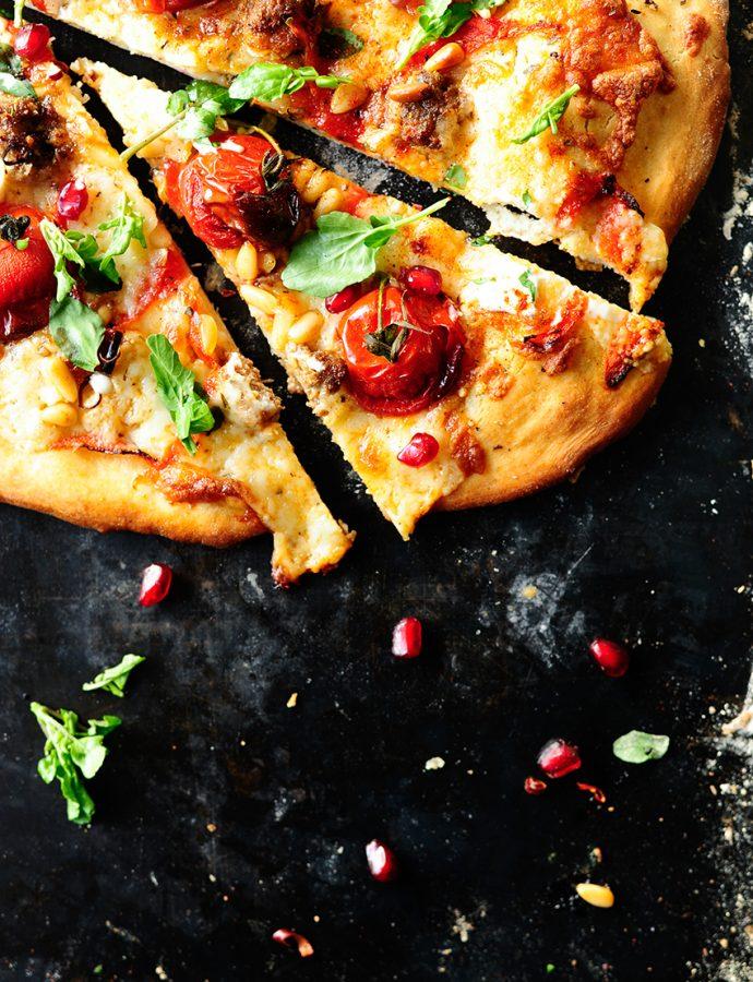 Libanese pizza met lams en geitenkaas