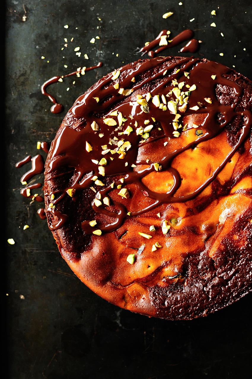 Cheesecake met pruimen en chocolade2