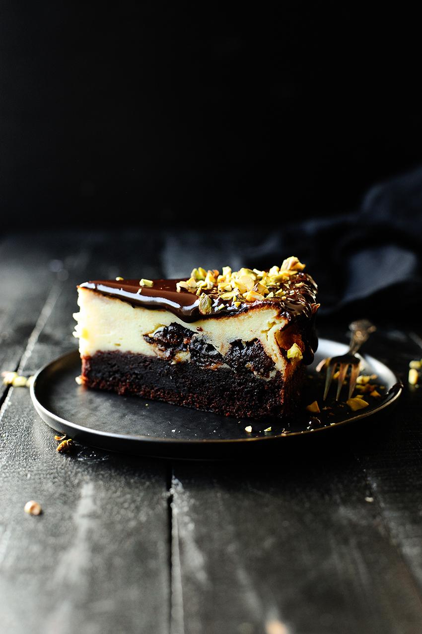 Cheesecake met pruimen en chocolade4