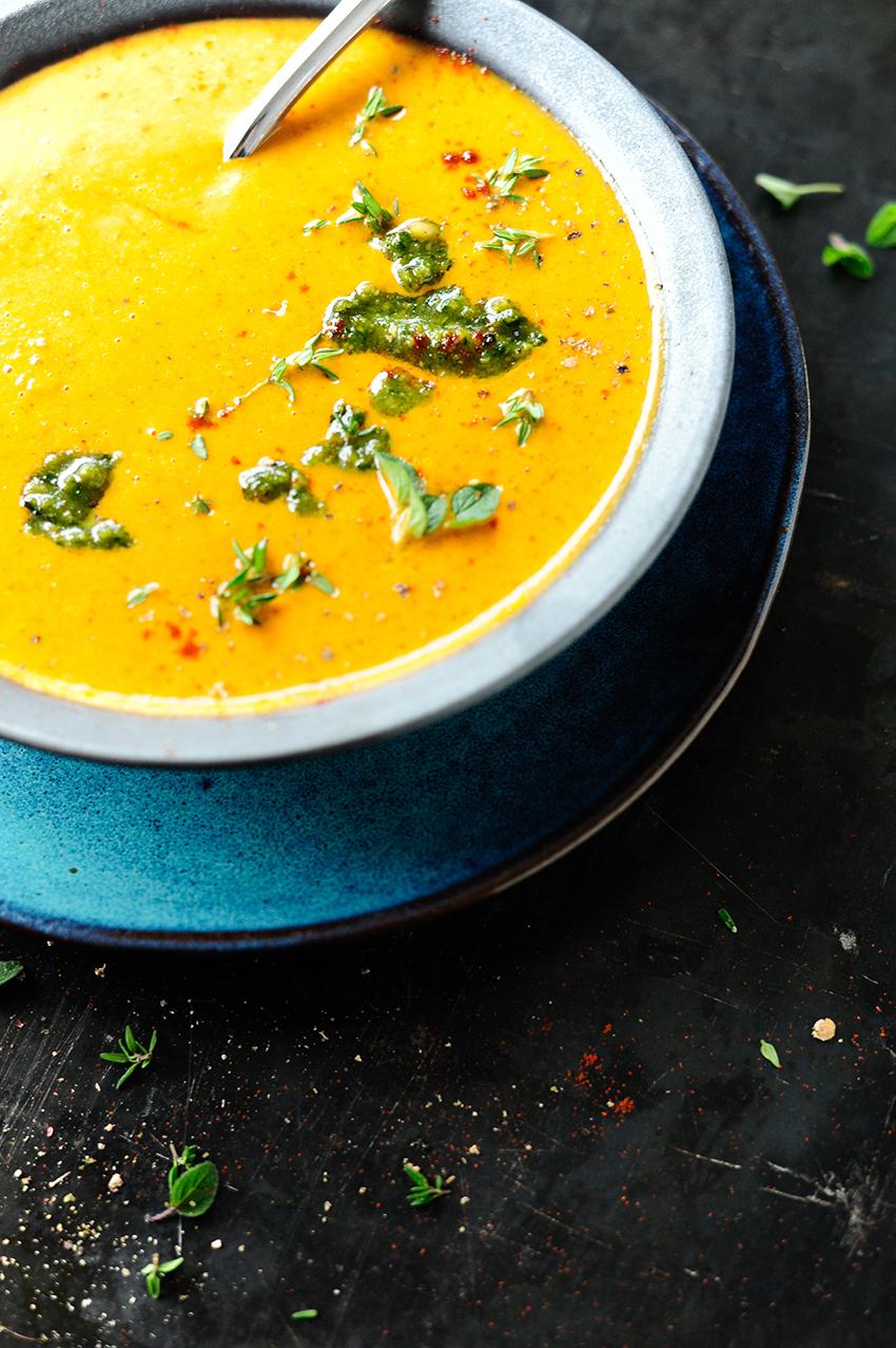 Italiaanse soep met geroosterde pompoen1
