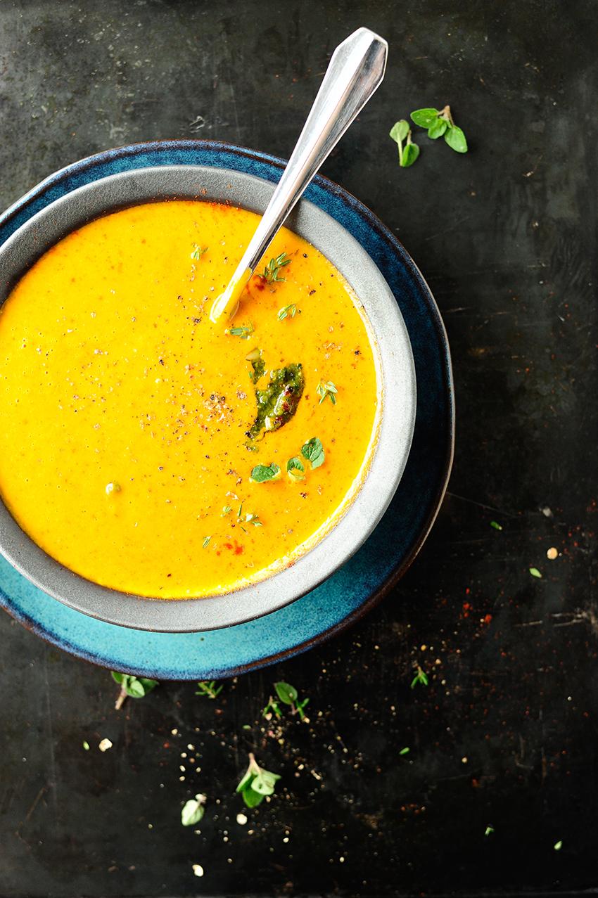 Italiaanse soep met geroosterde pompoen3