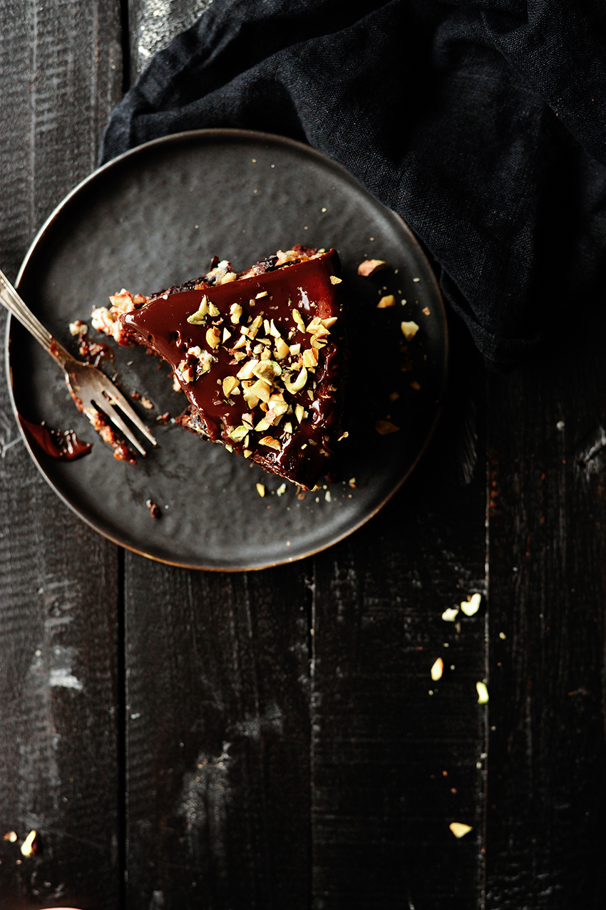 studio kuchnia | Sernik z czekolada i sliwkami