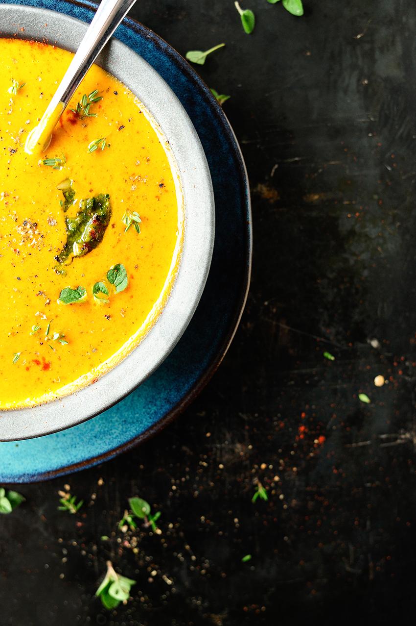 Wloska Zupa Z Pieczonej Dyni
