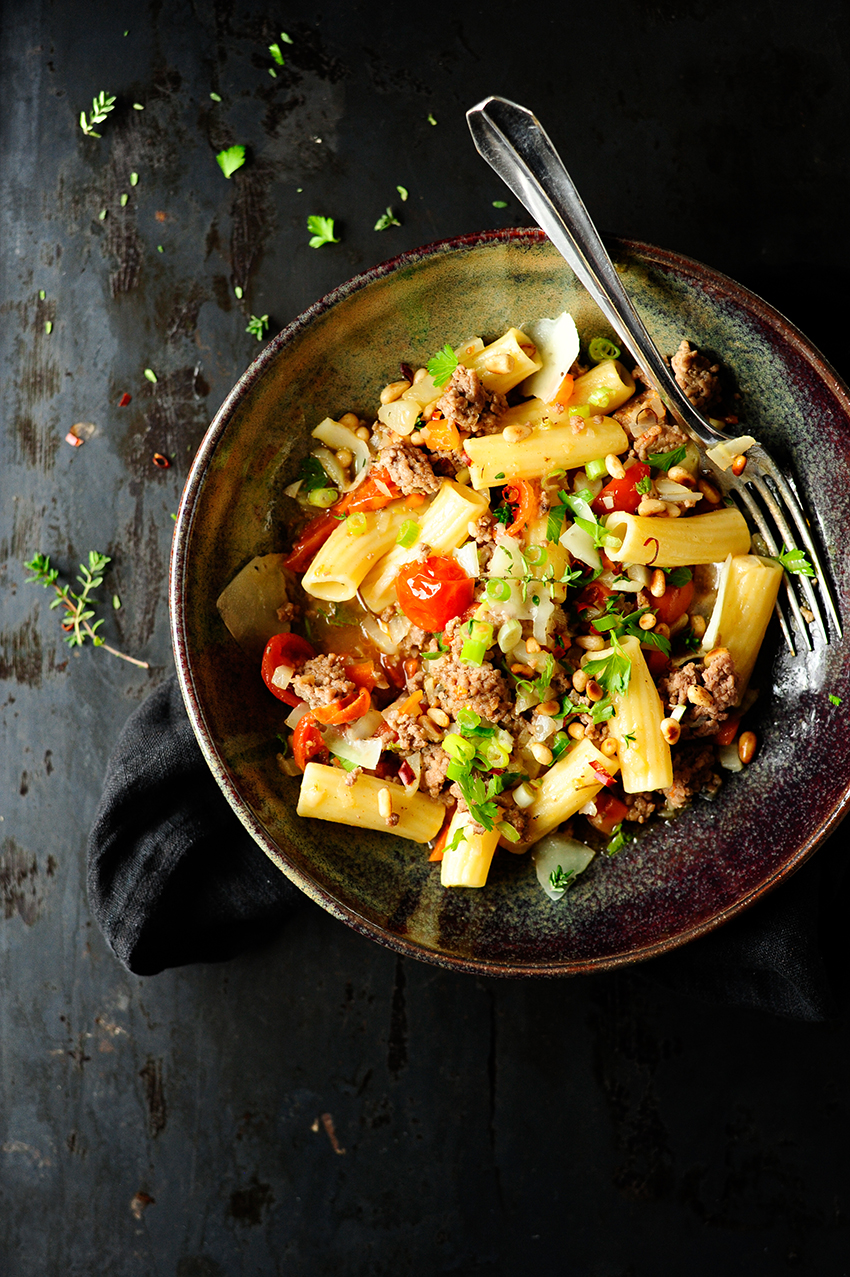 studio kuchnia | Makaron z mięsem mielonym i warzywami