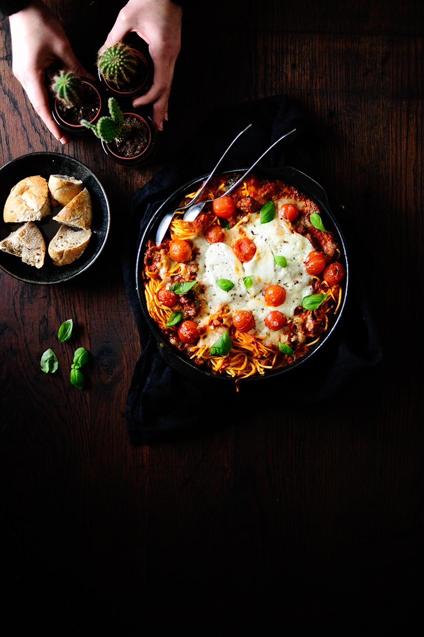 serving dumplings | Ovenschotel met pasta en geroosterde groentjes