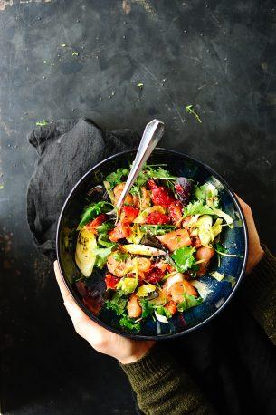 Za'atar salmon and blood orange salad