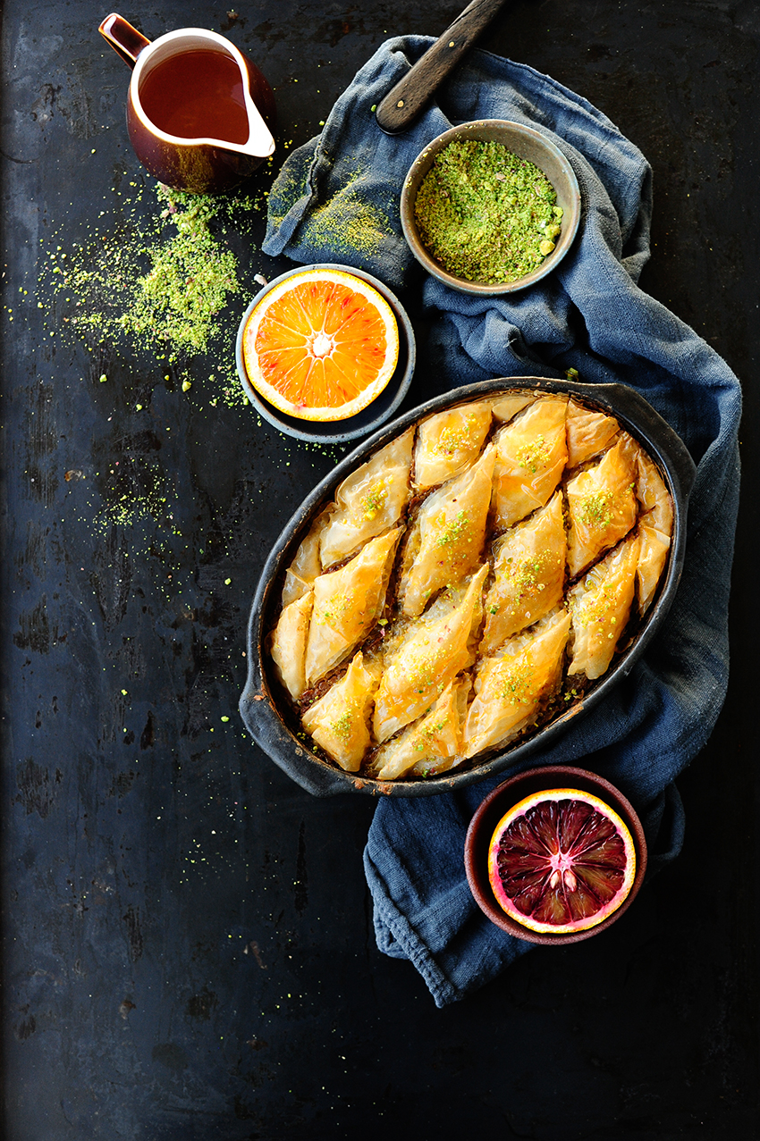 studio kuchnia | orange drenched chocolate baklava