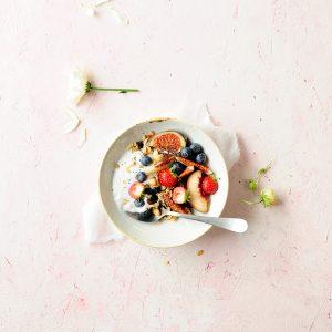 Power granola z suszonymi borówkami