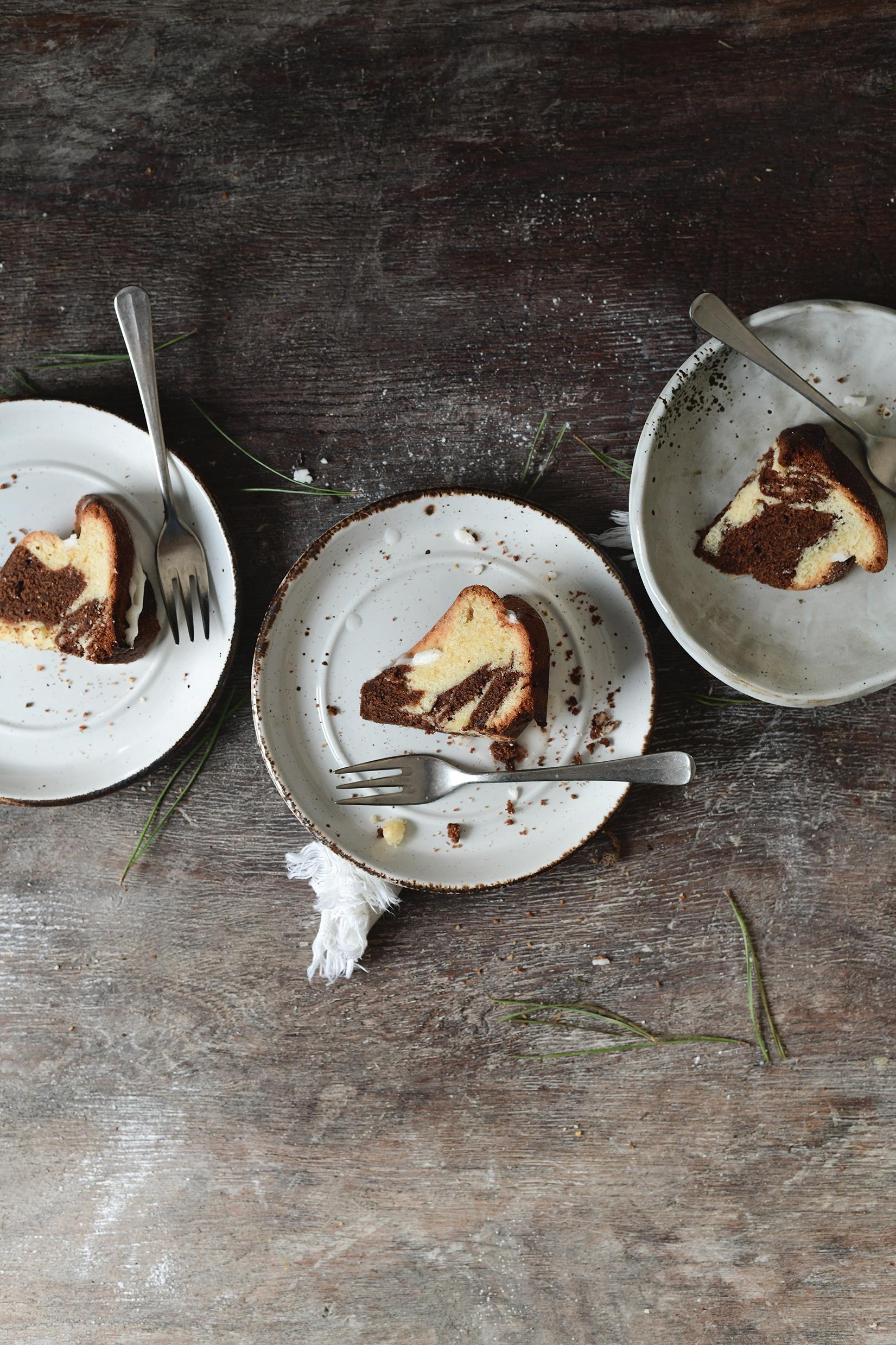 serving dumplings | Marmercake met peperkoek en sinaasappelglazuur