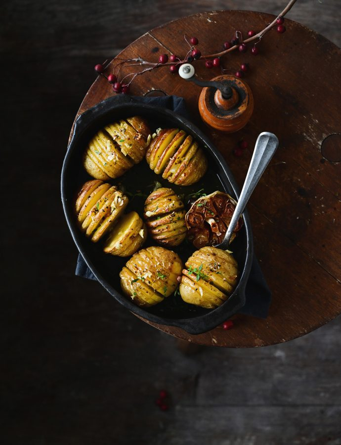 Buttery Hasselback potatoes