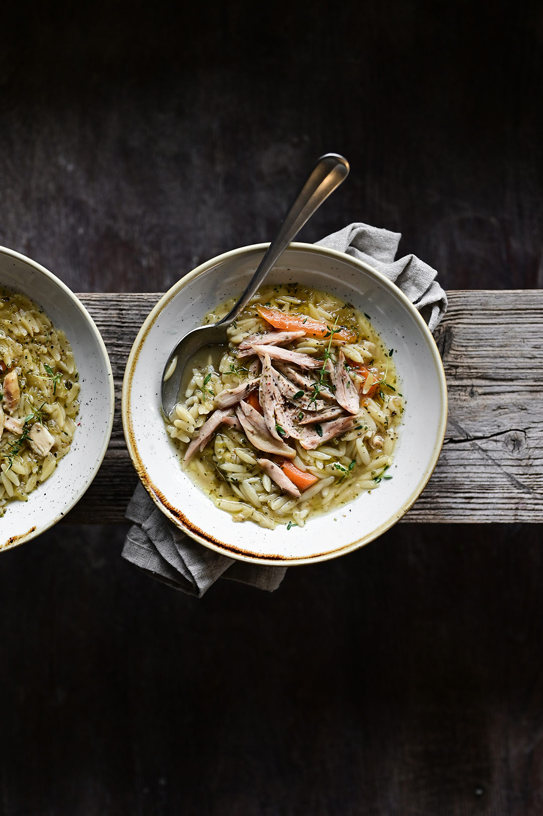 serving dumplings | Herby chicken soup with orzo