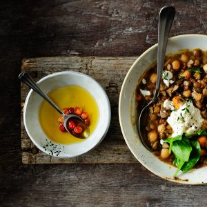 Winter one-pot lentil stew