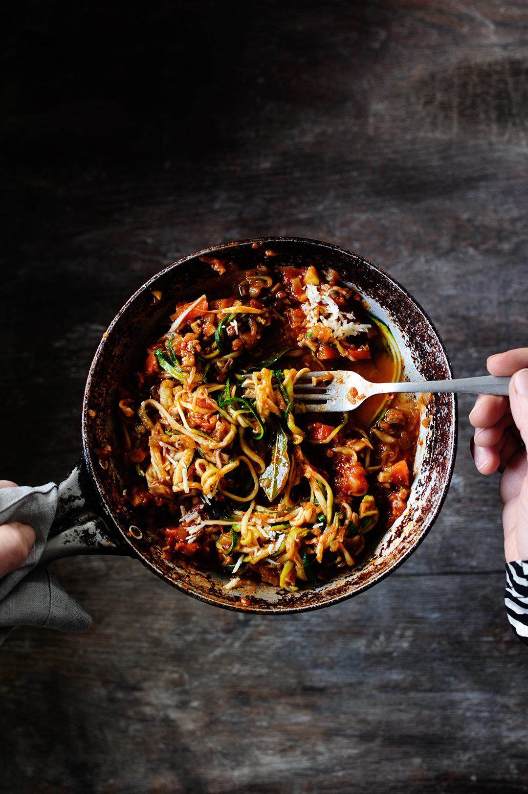 serving dumplings | Hearty mushroom bolognese with zoodles