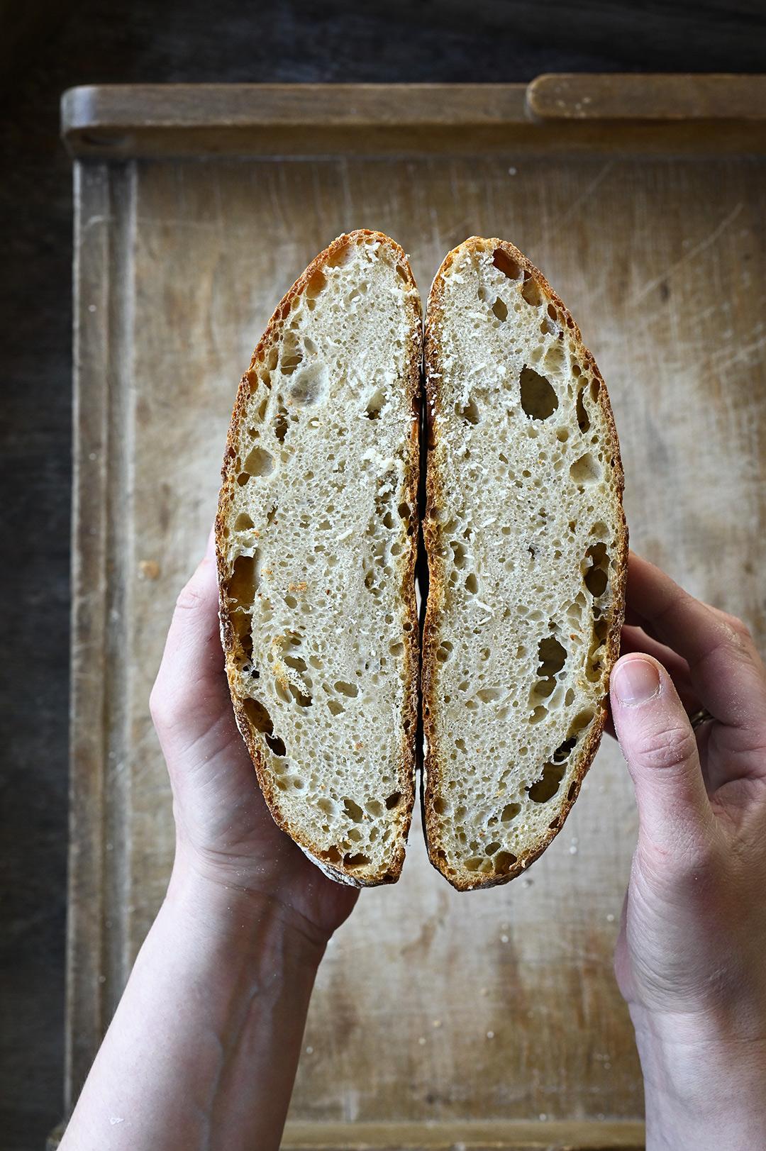 serving dumplings | Homemade sourdough bread