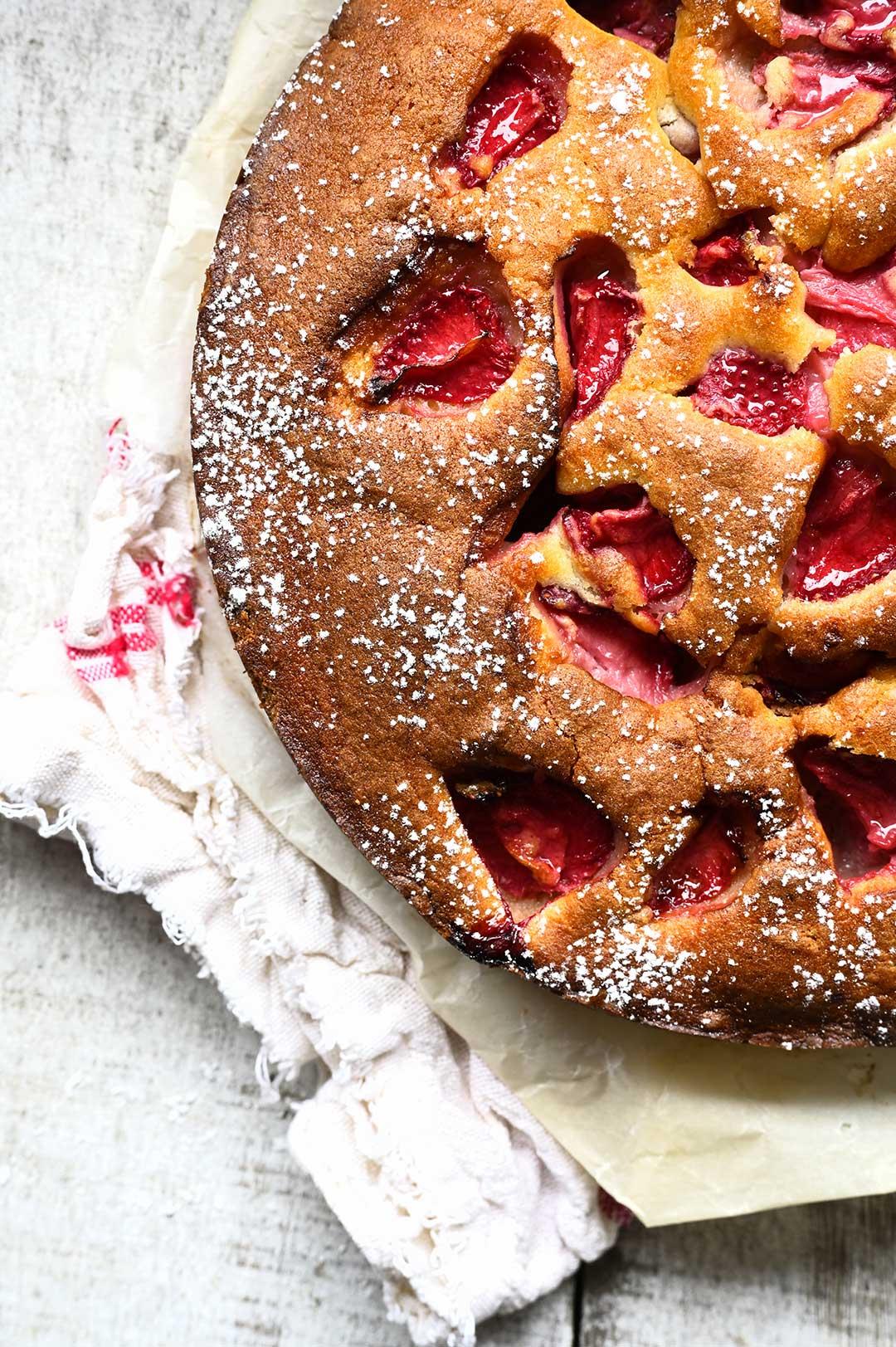 serving dumplings | Strawberry ricotta cake