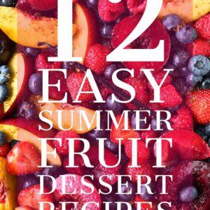12 heerlijke zomerdesserts met fruit