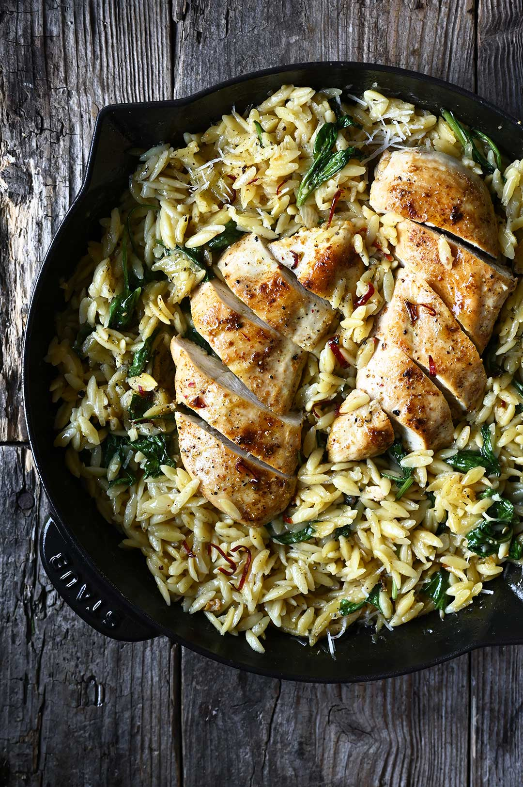 serving dumplings | One Skillet Parmesan Chicken and Orzo
