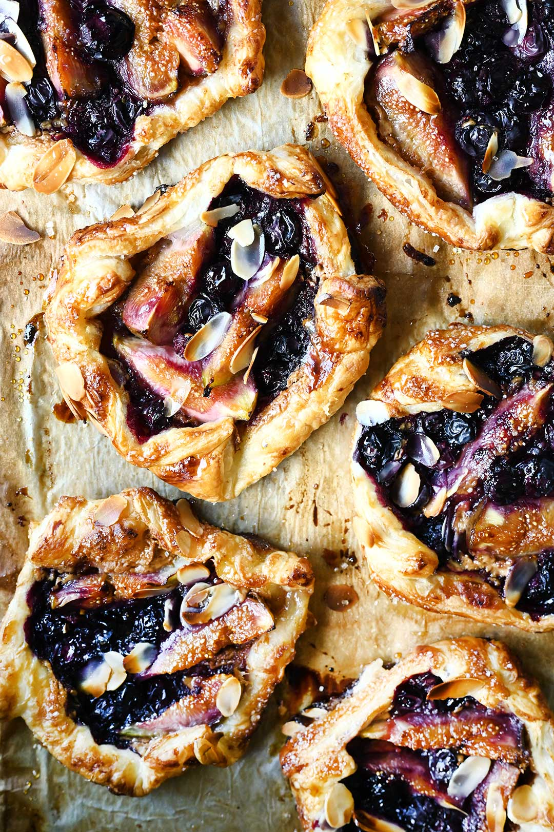 serving dumplings | Easy Blueberry Fig and Almond Tarts