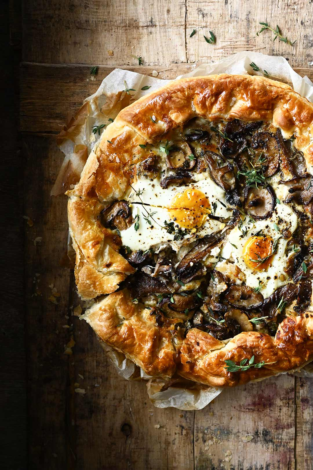 serving dumplings | Cheesy Mushroom Tart with Eggs