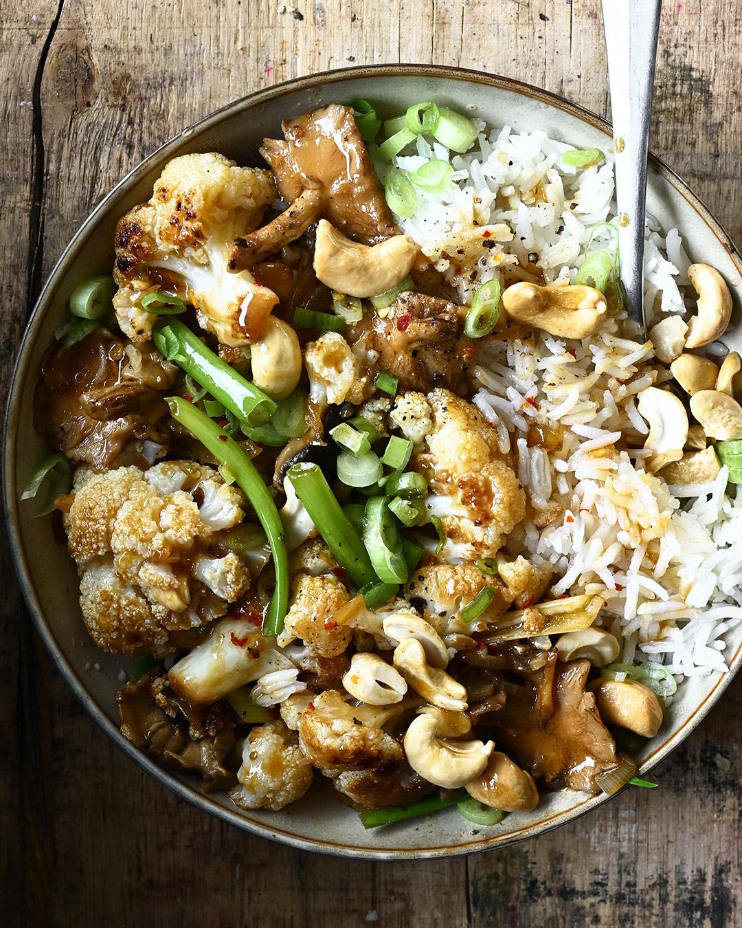 Kung Pao Cauliflower | Serving dumplings