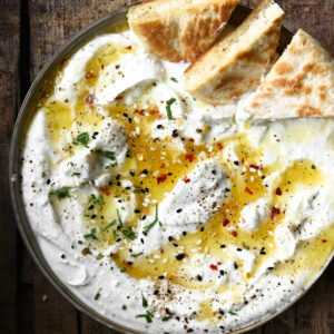 Whipped feta dip with spicy honey