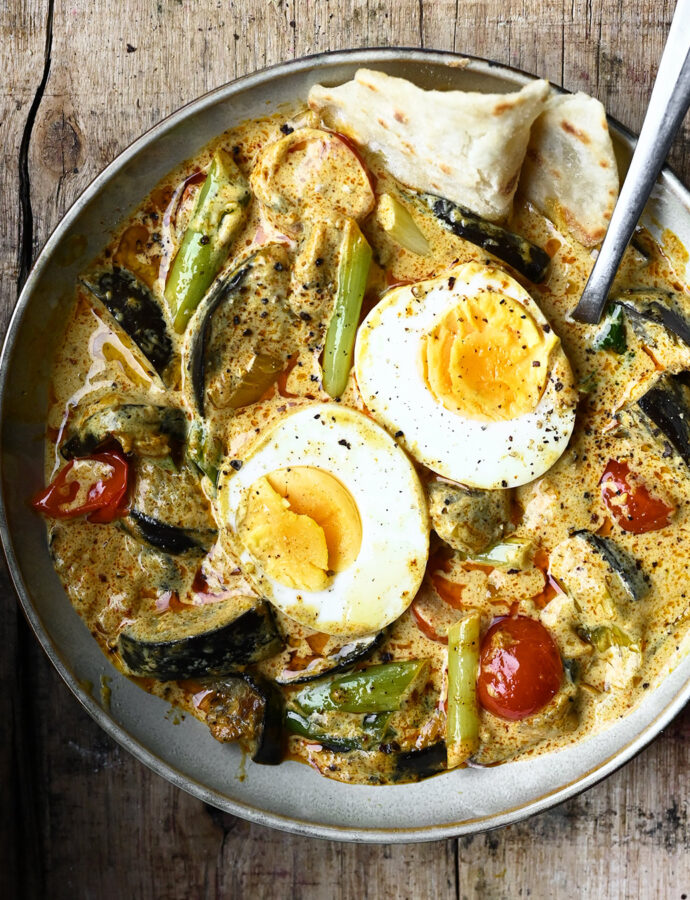Egg Curry with Eggplant