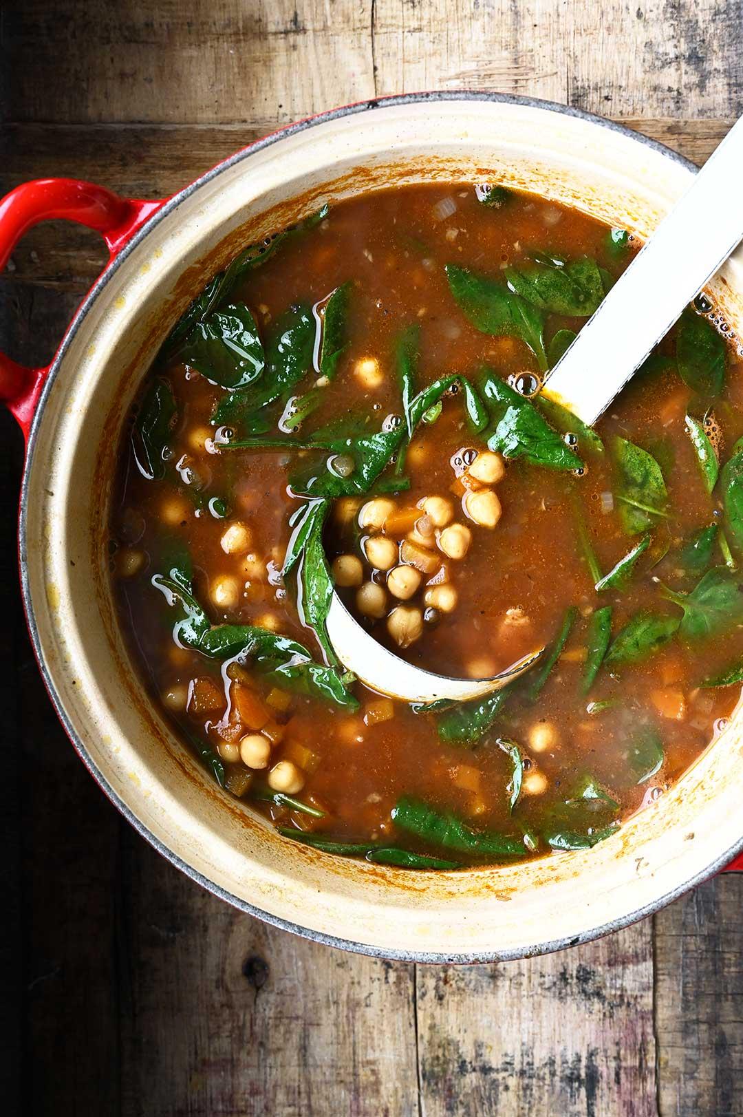 serving dumplings | Brothy Chickpea Stew