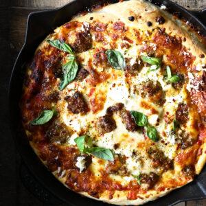 Pizza uit de pan