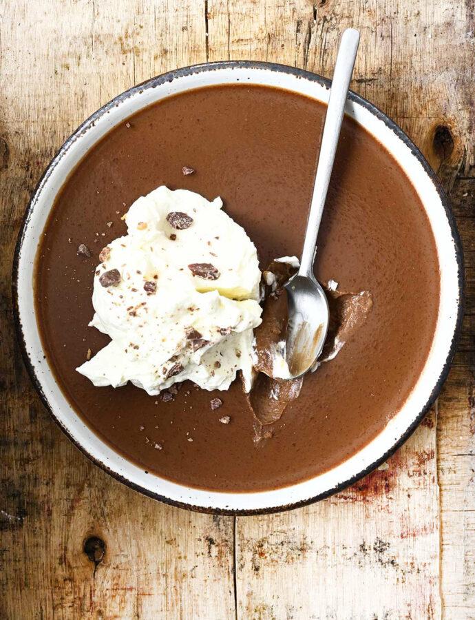 Chocolate Peanut Butter Panna Cotta