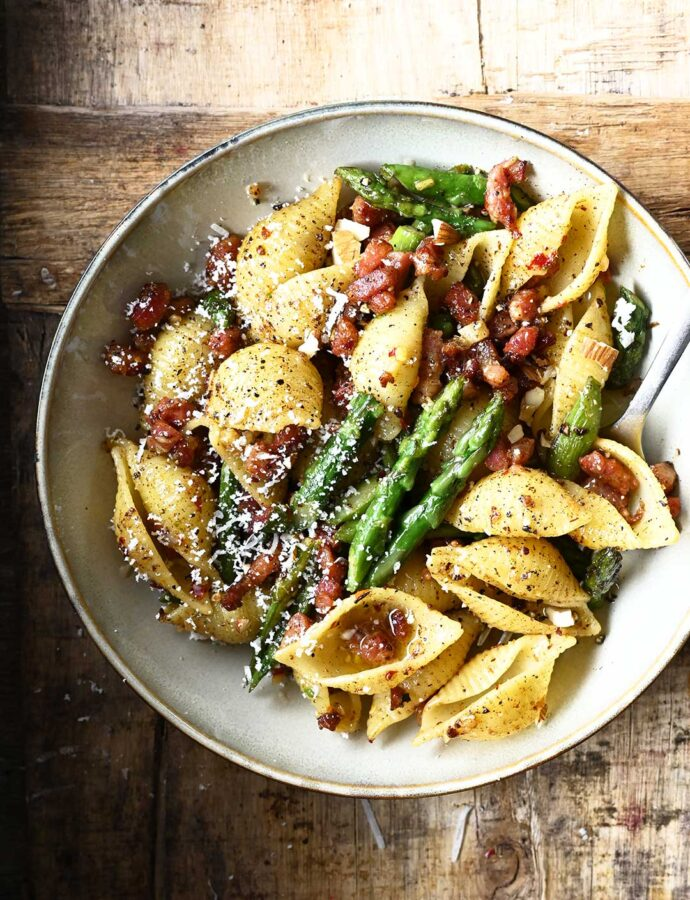 Brown Butter Asparagus Pasta