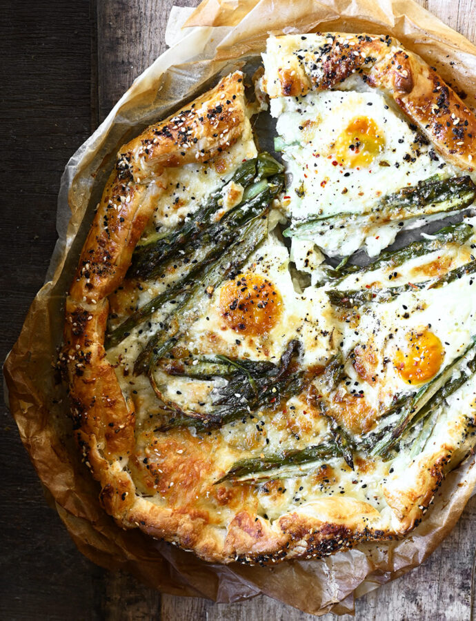 Cheese and Asparagus Galette