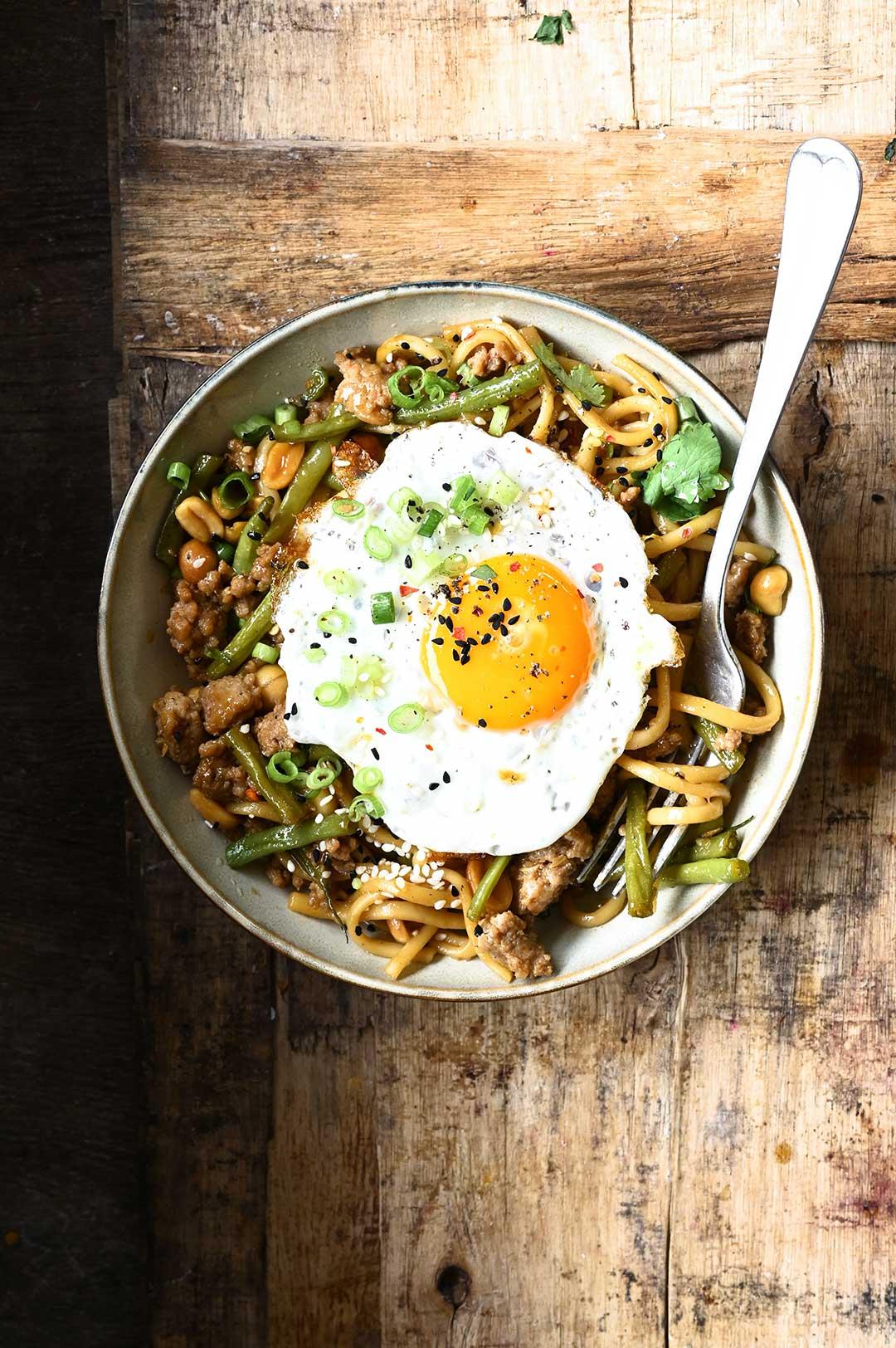 serving dumplings | Easy Pork and Green Bean Noodles