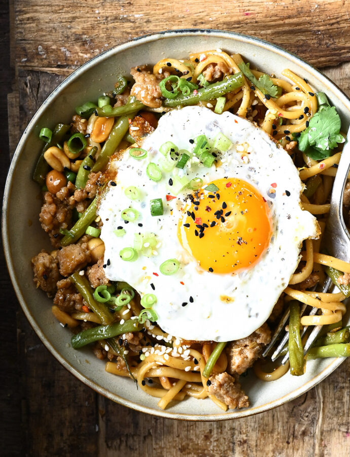 Easy Noodles with Pork and Green Beans