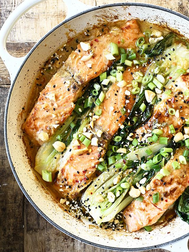 Miso Salmon with Cashews