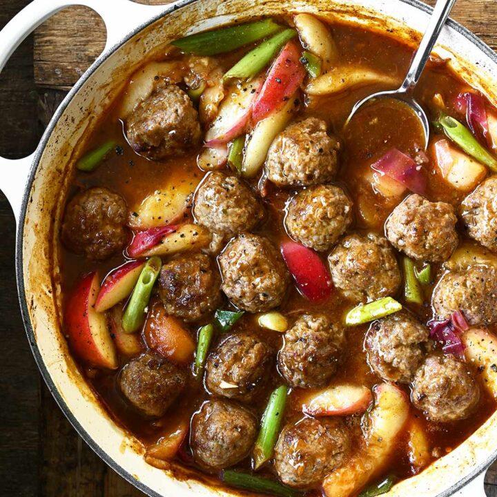meatballs bbq peach sauce