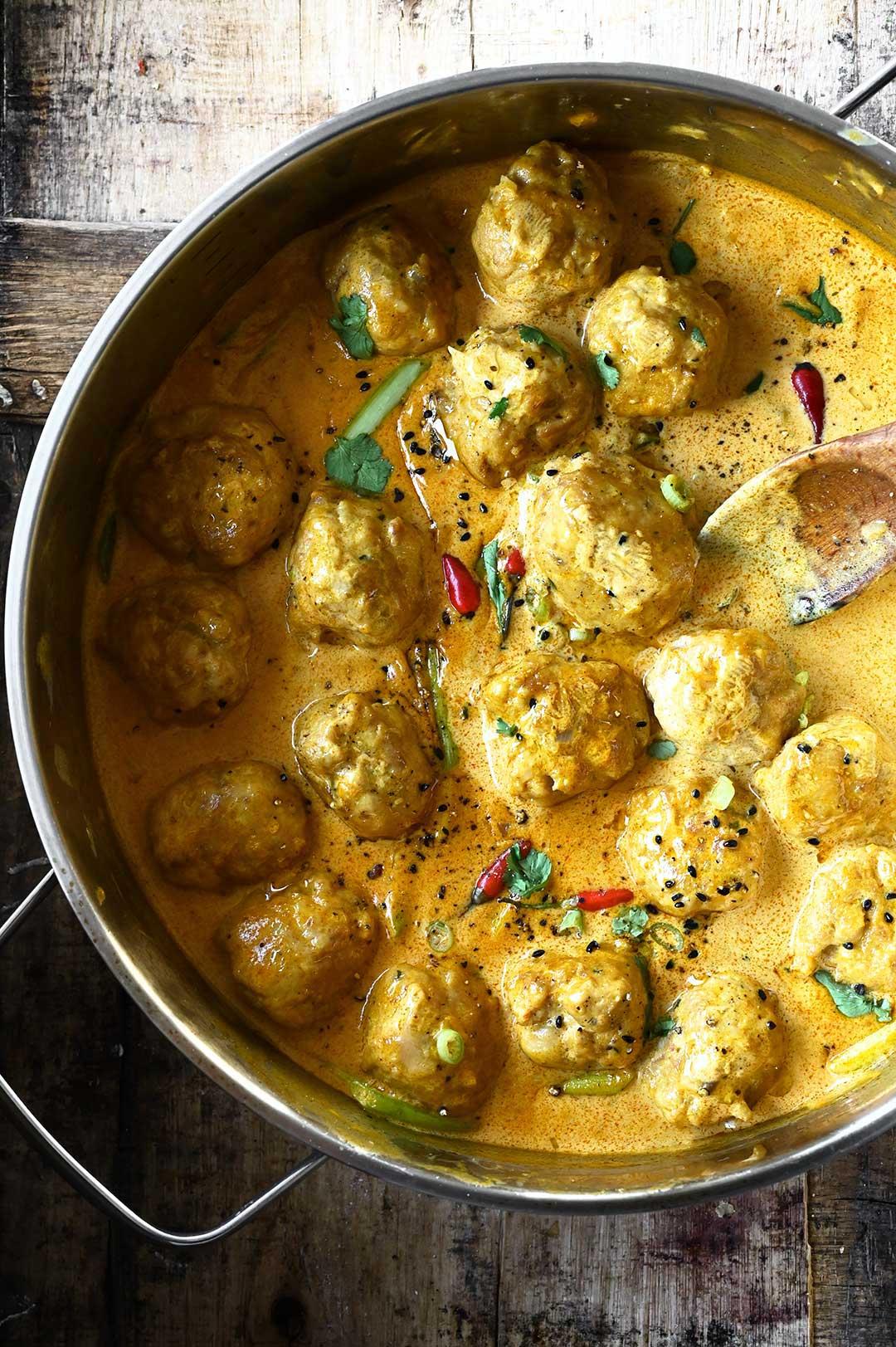 Thai Coconut Curry Chicken Meatballs