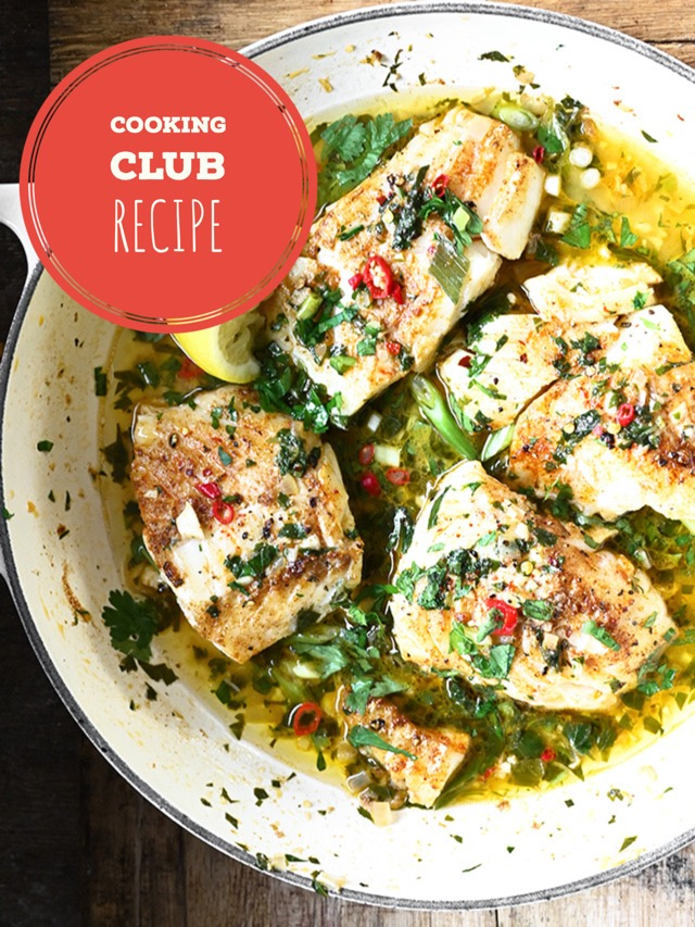 Cod with Herb Butter Sauce