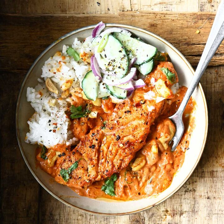 easy butter salmon curry